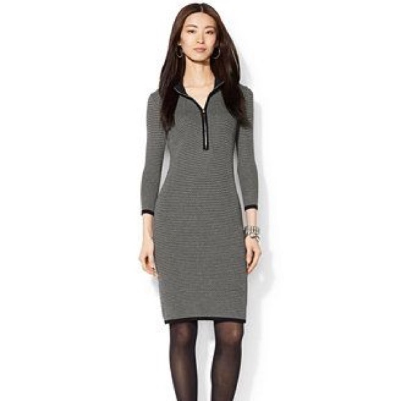 Lauren Ralph Lauren Petite Half-zip Sweater Dress