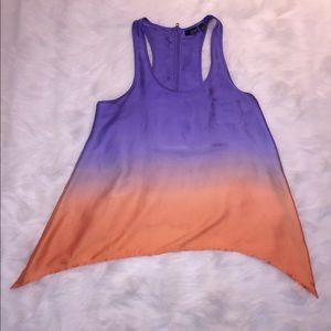a.n.a polyester ombré blouse