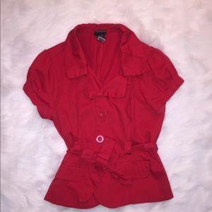 JKLA red short sleeved blazer