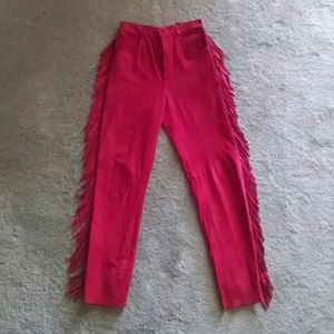 Suede/Leather Pants