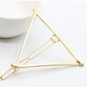 Unbranded Accessories - SET of 2! Boho gold triangle hair clips barrettes
