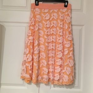 Champagne & Strawberry peach skirt