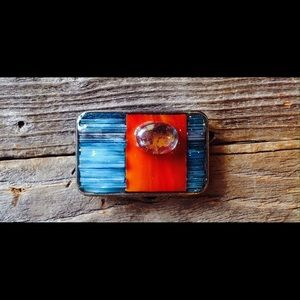Ivy Originals  Accessories - One of a kind hand made stained glass belt buckles