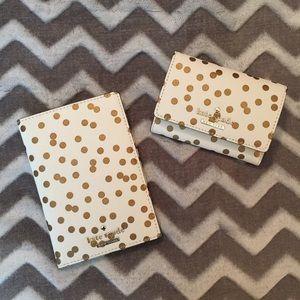 NWT Kate Spade Confetti Dot Darla Wallet