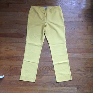 Charter Club Pants - 💠 4/$20 SALE high waited yellow crops 🐝