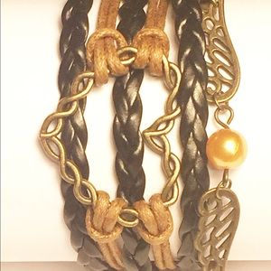 Black & Brown Heart Bracelet