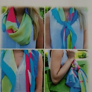 Accessories - Last Call DonatingWatercolor Print 100% Silk Scarf