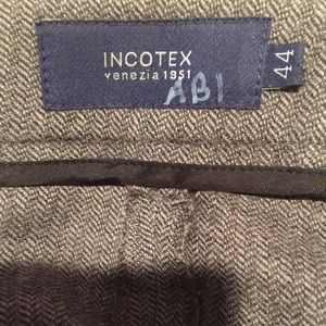 Incotex Pants - Incotex herringbone wool trousers