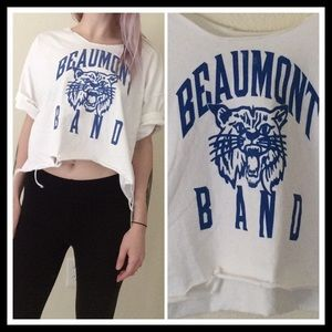 LF Tops - 💀Custom Destroyed Line 💀Beaumont Band Shredded T