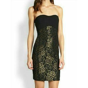 Diane von Furstenberg Dresses & Skirts - DVF Black Metallic Garland Dress