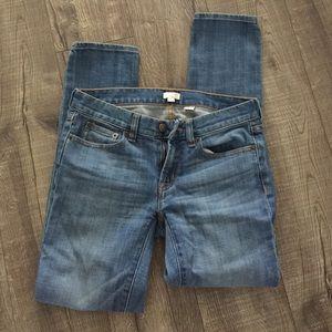 J Crew toothpick stretch light blue jeans