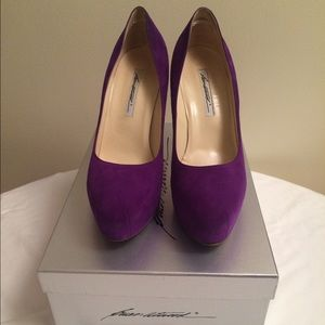 Brian Atwood Purple Suede Maniac Pumps
