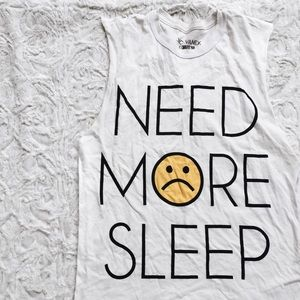 jac vanek need more sleep muscle tee