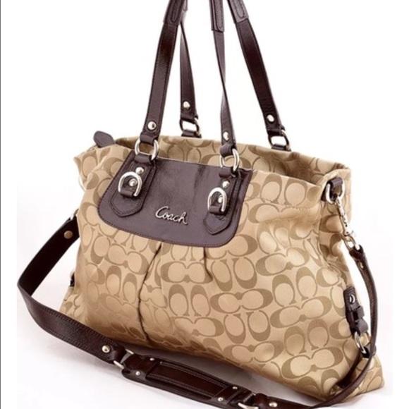 Coach Handbags - Coach Ashley Signature Carryall F15510 a874f6c920843