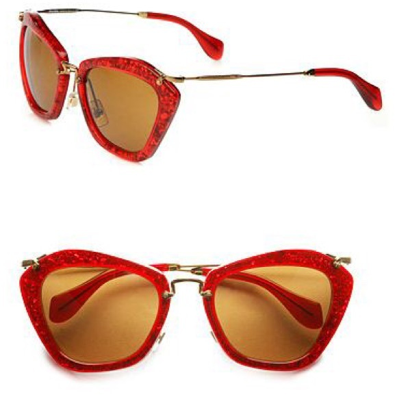 14ec250430 Red sparkle miu miu prescription sunglasses. M 579bbcd85a49d0a74200ced2