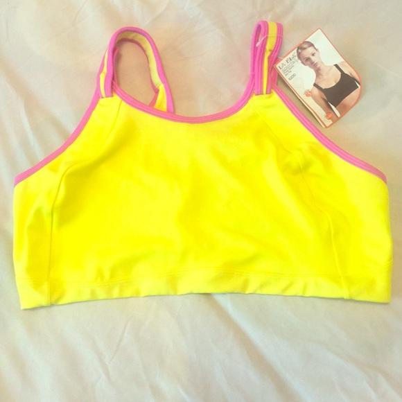 aba57f89fa45c La Isla Other - La Isla 42DD yellow   pink sports bra
