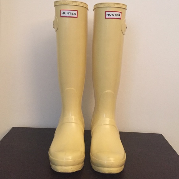57% off Hunter Shoes - Hunter Tall yellow rain boots size 5.5-6 ...