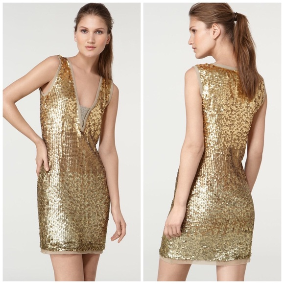 49% off Tory Burch Dresses & Skirts - Stunning Tory Burch Gold ...