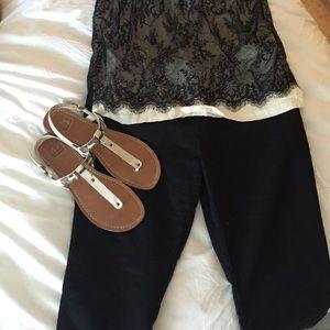 Dolce Vita white sandals