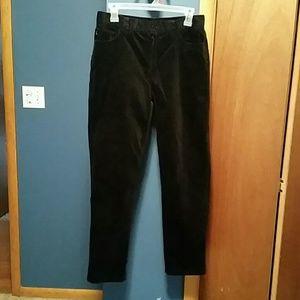 Ralph Lauren black velvety pants