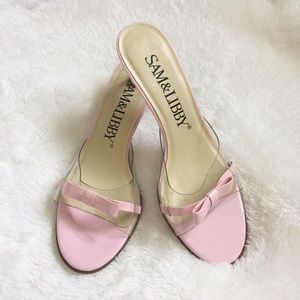 Sam & Libby Shoes - Sam & Libby Pink and Clear Heel Pumps