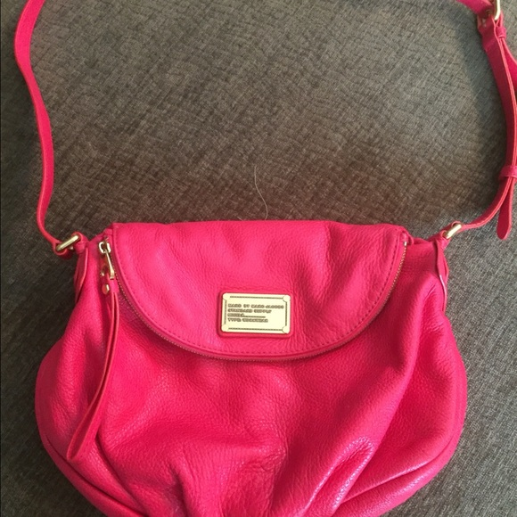 d13c63f340b7 Marc Jacobs hobo cross body hot pink leather purse.  M 57799f7cfbf6f9c5d4010d5b