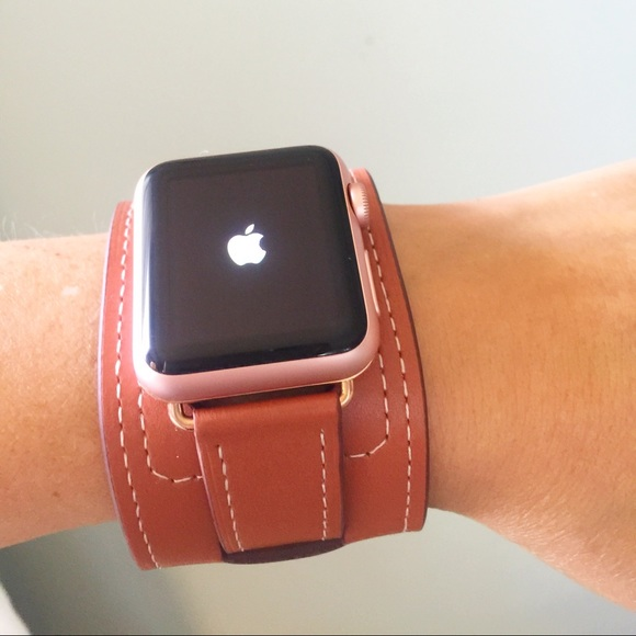 68% off Other - ROSE GOLD Brown Apple Watch Band cuff