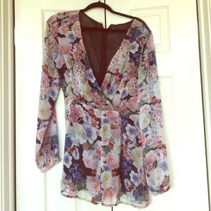 Glamorise Pants - Floral silky romper