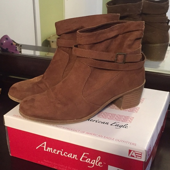 9ed92065d48 American Eagle by Payless Shoes - Wrapped Ankle Brown Booties
