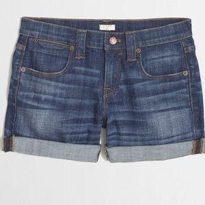 J. Crew Pants - J. Crew cuffed denim shorts