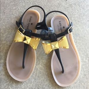kate spade Shoes - Kate Spade black and gold jelly sandals