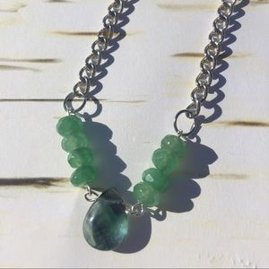 emerald and fluorite necklace