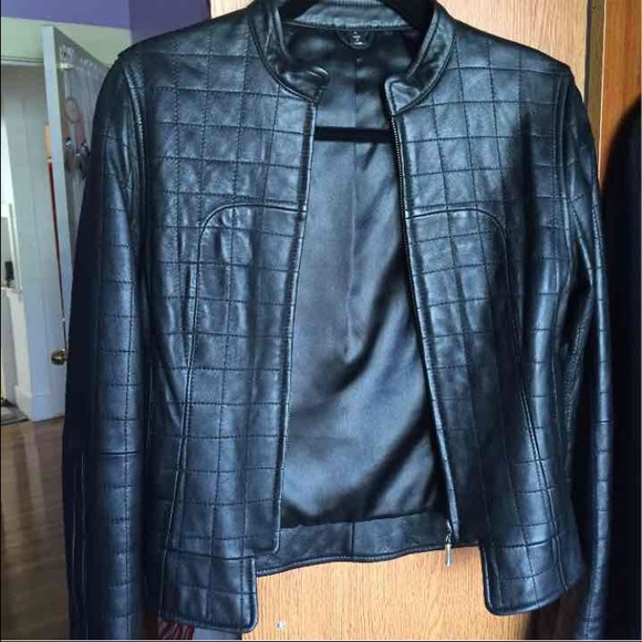 63% off bebe Jackets & Blazers - Sample sale leather jacket from ...