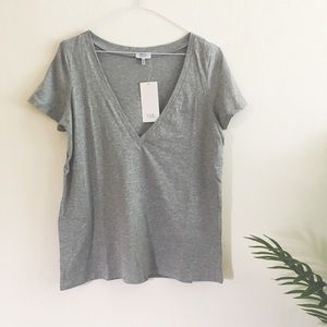 Basic Grey V Neck Tee
