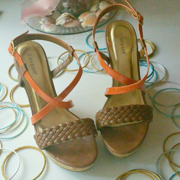 "Bamboo Shoes - Bamboo 4"" Wedge Sandal"