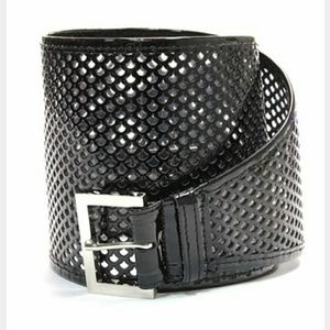 NWT FENDI $425 Patent Perforated Corset Belt