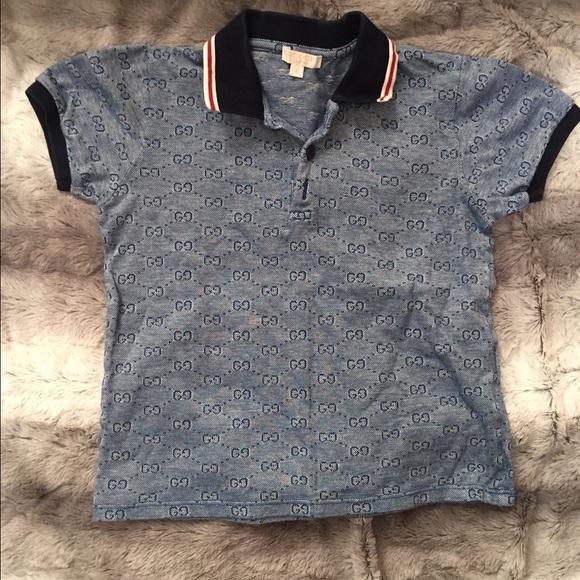 Gucci Tops - Boys Gucci Logo Polo Shirt. 29dba996e37