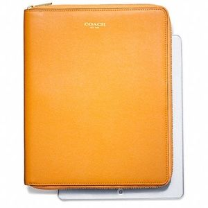 NWT Coach Saffiano Leather iPad Case Cover