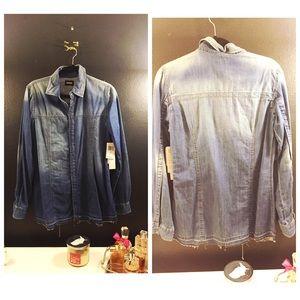 Hudson Jeans Tops - HUDSON BLUE BRITT LONG SLEEVE DENIM SHIRT