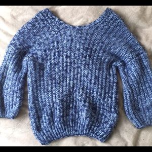 Cozy blue knit sweater