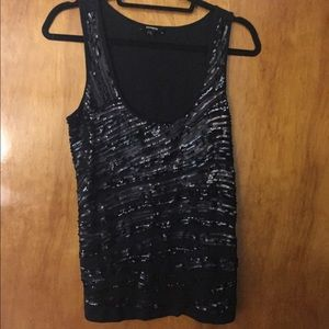 Express black beaded tank
