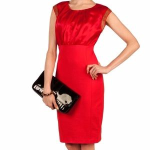 New Ted Baker ELATE Red Embellished Fitted Dress