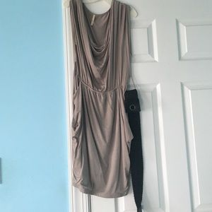 Gray dress with belt