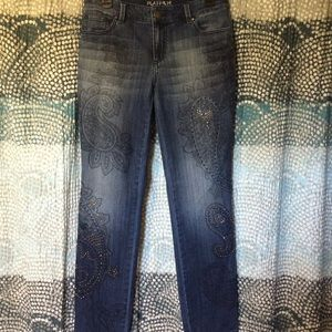 Chico's Ultimate Fit Jeweled Jeans