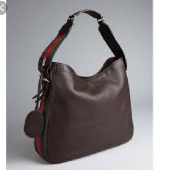 d9edce94c4e Gucci Handbags - Gucci Heritage Web Hobo Leather Medium ON HOLD
