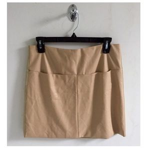 Tan vegan leather skirt ✨