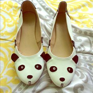 Shoes - Black and white panda flats size 5 1/2 US women