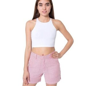 American Apparel Pants - Unisex Striped Shorts (blue, tan, red) sizes 26/27