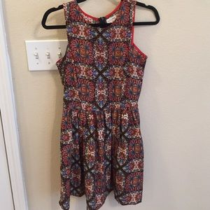 Maison Jules pocket abstract print dress size sm!