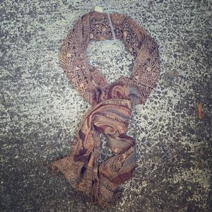 Merona Accessories - Merona Brown & Tan Pashmina Scarf